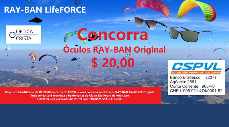 Sorteio de um Ray-Ban LifeFORCE