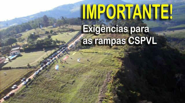 Exigências nas rampas CSPVL