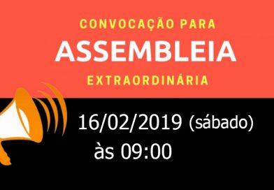 Assembléia Extraordinária – 16/02/2019