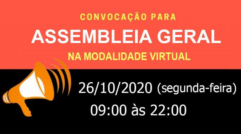 Assembleia Geral Virtual – 26/10/2020